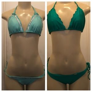 Bundle two piece swimsuits size M